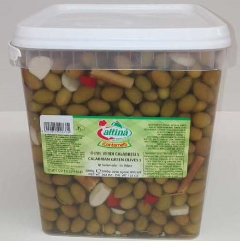 Small Green Calabresi Olives - Attina
