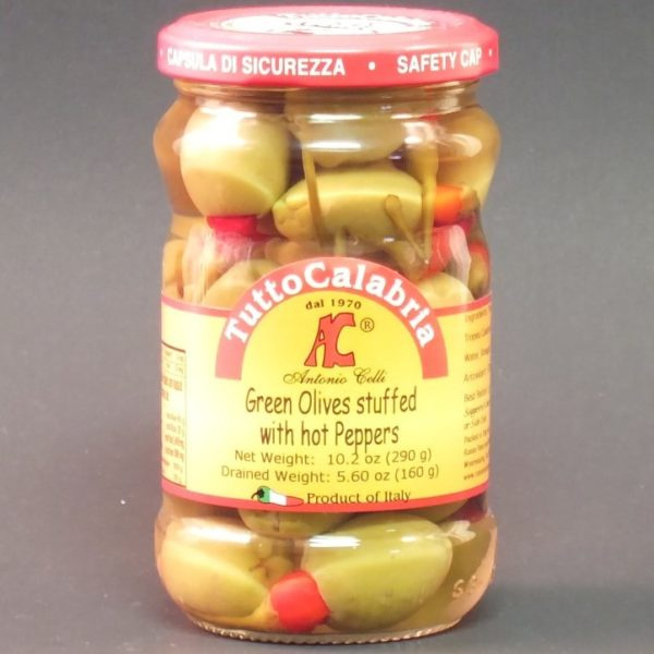 Olives Stuffed with Hot Peppers - Tutto Calabria