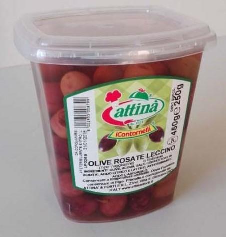 Rose' Leccino Olive in Brine - Attina