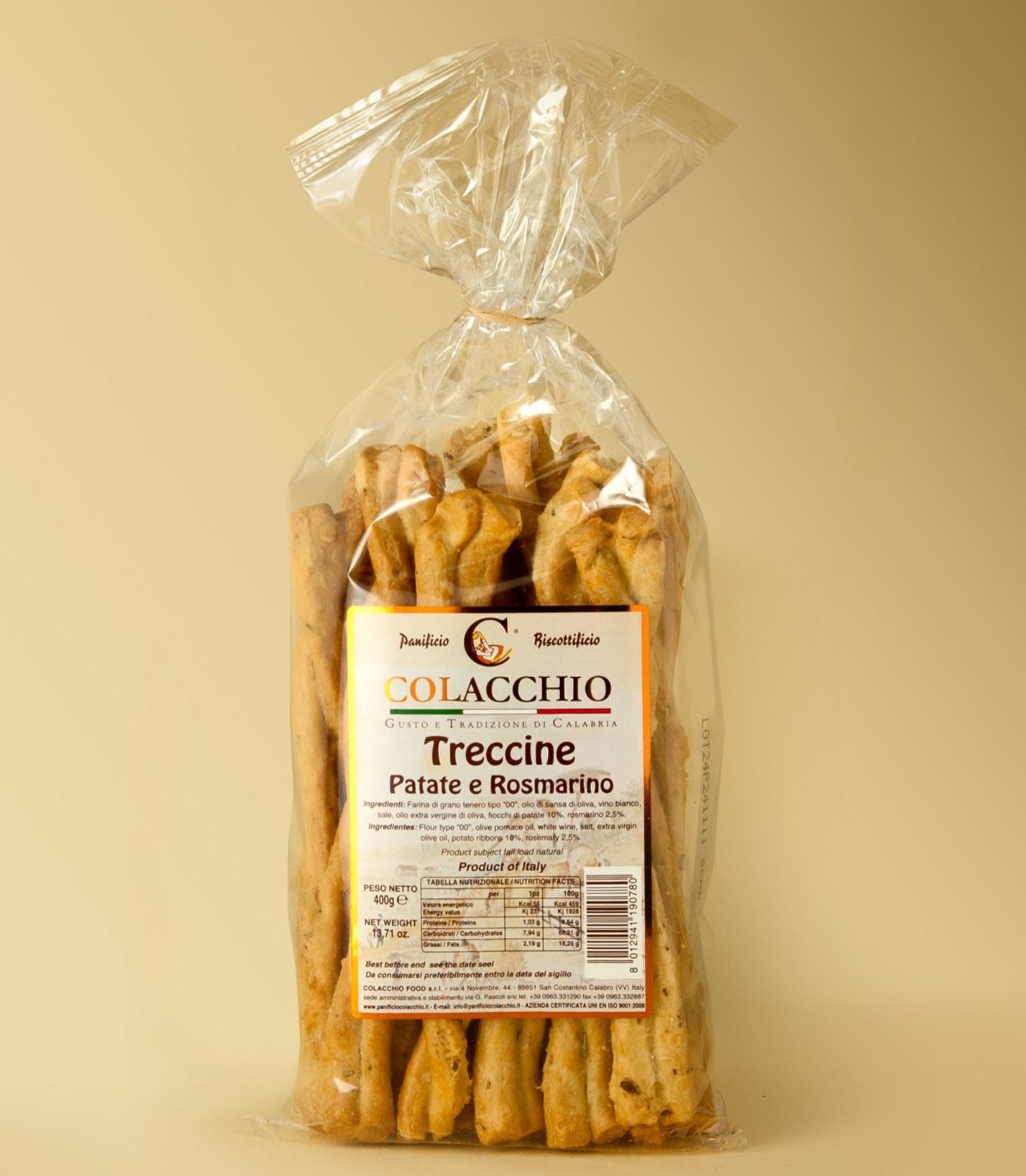Colaccho Treccine Patate & Rosmarino