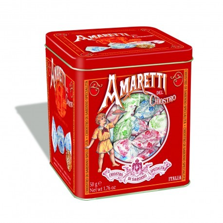 Amaretti Mini Cube Tin